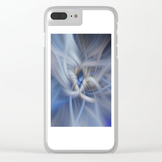 Abstract in blues Clear iPhone Case