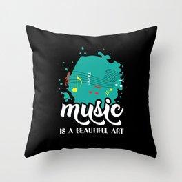 Musical Art Throw Pillow
