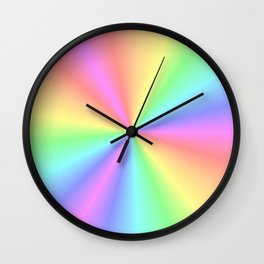 Rainbow Pattern 3 Wall Clock