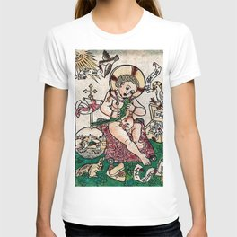 The Child Jesus (Happy New Year) Woodblock Greeting Card T-shirt