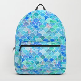 Bubbly Ocean in Aqua and Turquoise Backpack