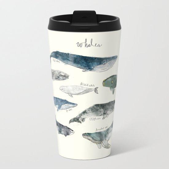 Whales Metal Travel Mug