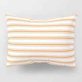 Bright Orange Russet Mattress Ticking Wide Striped Pattern - Fall Fashion 2018 Pillow Sham