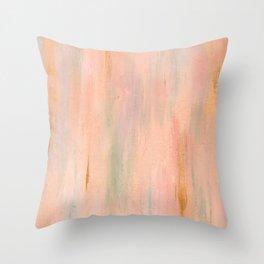 Desert Sunset in Acrylic v.3 Throw Pillow
