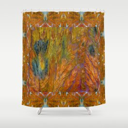 Texas Plume Agate Shower Curtain