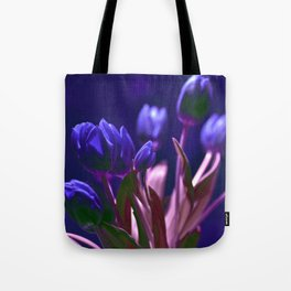 MAGIC BLUE TULIPS Tote Bag