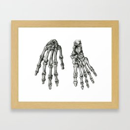 Hand & Foot Framed Art Print
