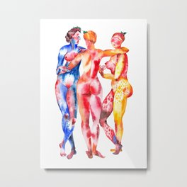 Three Graces Metal Print