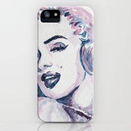 Classic Beauty Pop Art Watercolor Painting iPhone Case
