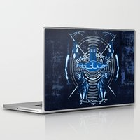 bad wolf Laptop & iPad Skins featuring Bad Wolf Radio by Buzatron