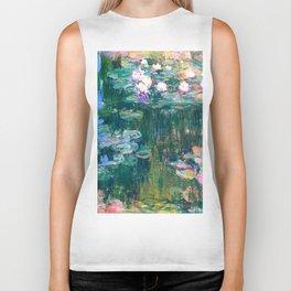 water lilies : Monet Biker Tank