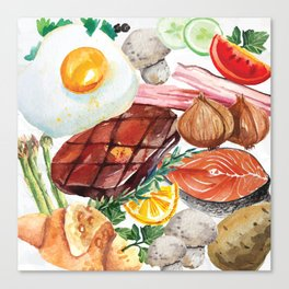 Painted Food Canvas Print