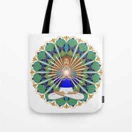 Divine Spark Mandala Tote Bag
