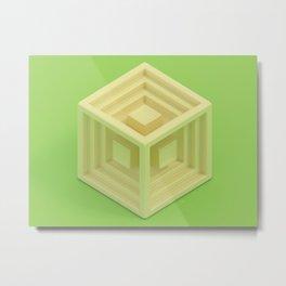 Cube 1 Metal Print