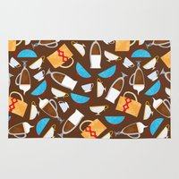 coffe Area & Throw Rugs featuring Cup of coffe? by Olga  Varlamova