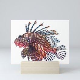 Luna Lionfish Body Fish Light Soft Extensions Stripes Mini Art Print