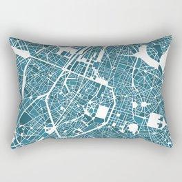Brussels City Map I Rectangular Pillow