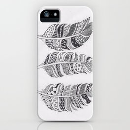 Feather Pattern iPhone Case