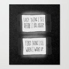 EYESIGHT FAILING Canvas Print