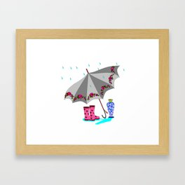 The Beauty of A Rainy Day Framed Art Print