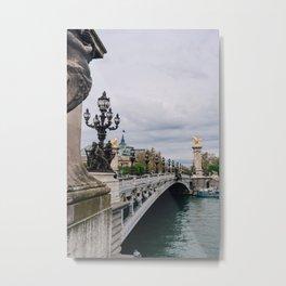 Pont Alexander III Bridge III Metal Print