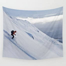 Skiers at Hatcher Pass (2) Wall Tapestry