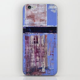Chagrin Cornflower Blue Abstract Painting Modern Art iPhone Skin