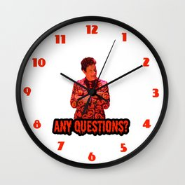 David S. Pumpkins - Any Questions? II Wall Clock