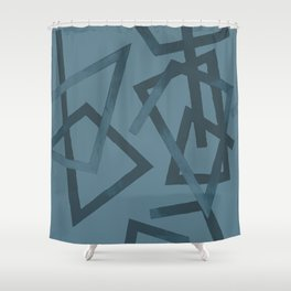 Blueprint and  Watercolor Texture 2 Shower Curtain