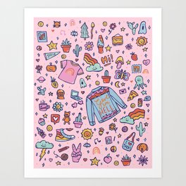 All the Fun Things Art Print