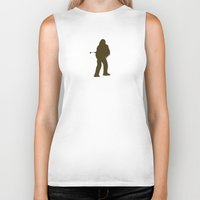 chewbacca Biker Tanks featuring Chewbacca by Green Bird Press