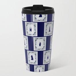 Collage Delft blue tiles Travel Mug