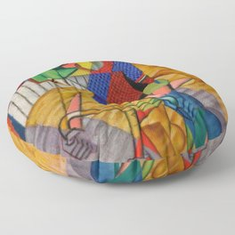 LE CYCLISTE (The Bicyclist) by Jean Metzinger Floor Pillow