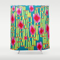 tiki Shower Curtains featuring Tiki Torture by Katie Anderson Art