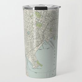 Vintage Map of New Haven Connecticut (1901) Travel Mug