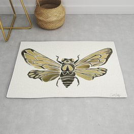 Summer Cicada – Black & Gold Palette Rug