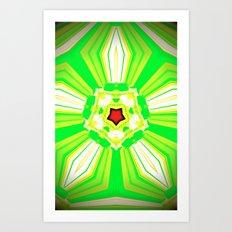 MERGING LINES III Art Print