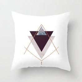 PLUM COPPER AND BLUSH GEOMETRIC Throw Pillow