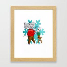 A merry dance Framed Art Print
