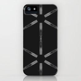 Industria Black Minimal Goth Style iPhone Case
