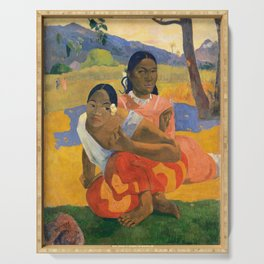Affordable Art $300,000,000 When Will You Marry by Paul Gauguin Serving Tray