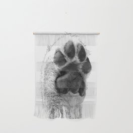 Black and White Dog Paw Wall Hanging