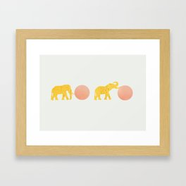 Elephant Roll Framed Art Print