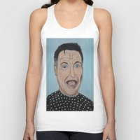 robin williams Tank Tops featuring Robin Williams Portrait by Tania Allman Art