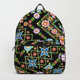 Millefiori Floral Lattice Backpack