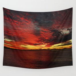 Fiery Sunset Wall Tapestry