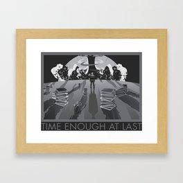 Time Enough At Last Framed Art Print