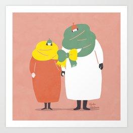 a loving couple Art Print
