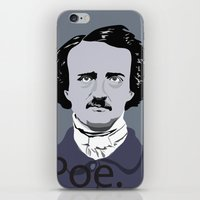 poe iPhone & iPod Skins featuring Poe. by Tara Durrant Designs