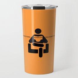 Sunscreen / Read the directions Travel Mug